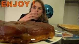 French Tarte Tatin  -  Famous French Style Apple Pie With Caramel !
