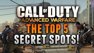 COD: Advanced Warfare - THE TOP 5 SECRET SPOTS! (Advanced Warfare Glitches & Tricks)