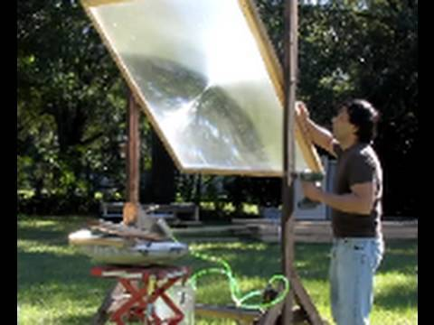 Fresnel Lens Solar Hot Water Heat Solar Pool Heater Solar Swimming Pool Greenpowerscience Youtube