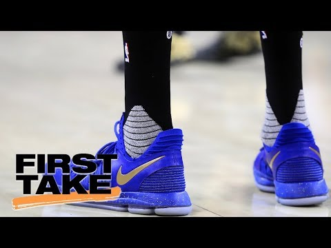 First Take reacts to Kevin Durant's 'KD10' sneakers taking shots at haters | First Take | ESPN