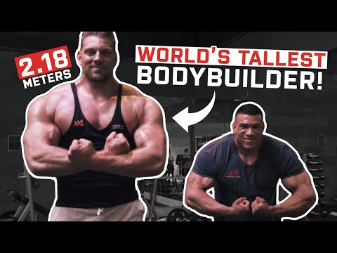 The Dutch Giant | Tallest Bodybuilder In The World! (2.18m/7.2ft)
