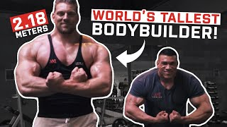 The Dutch Giant   Tallest Bodybuilder In The World! (2.18m/7.2ft) Video