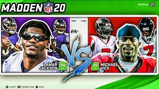 Team of Michael Vicks vs. Team of Lamar Jacksons in Madden 20