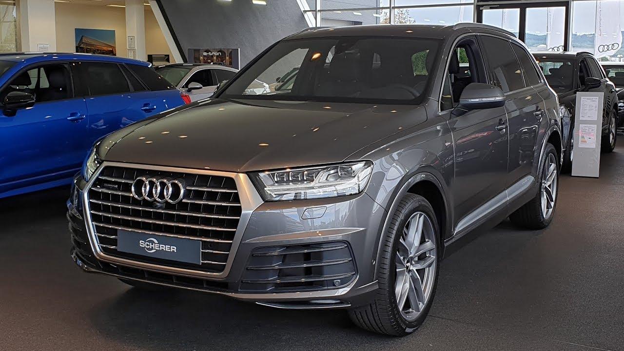 2019 Audi Q7 50 Tdi Quattro S Line 286hp Visual Review Youtube Audi q7 50 tdi quattro 2019 4k