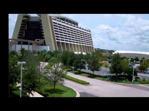 Monorail ride from Magic Kingdom to Contemporary Resort 2011