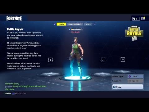 Fortnite Battle Royale Livestream (Hi! Its me again)