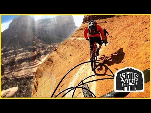 BIKING ON THE EDGE OF A SKETCHY CLIFF 😨   Sedona Whiteline Trail   Mountain biking