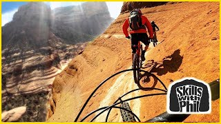 Riding on the edge of a cliff |  Sedona Whiteline Trail | Mountain biking