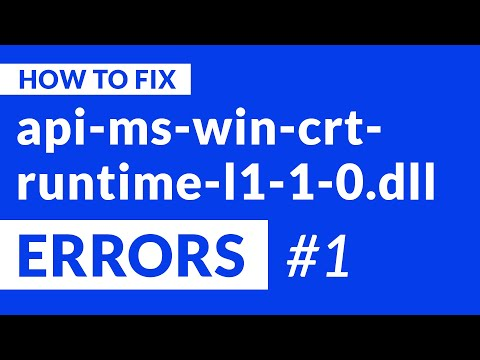 Api-ms-win-crt-runtime-l1-1-0.dll Missing Error | 2020 | Fix #1