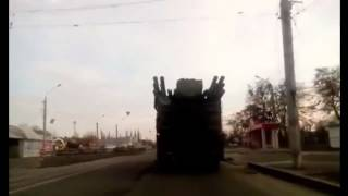 Ukraine War Russian Army Pantsir S 1 air defense system in the center of Luhansk