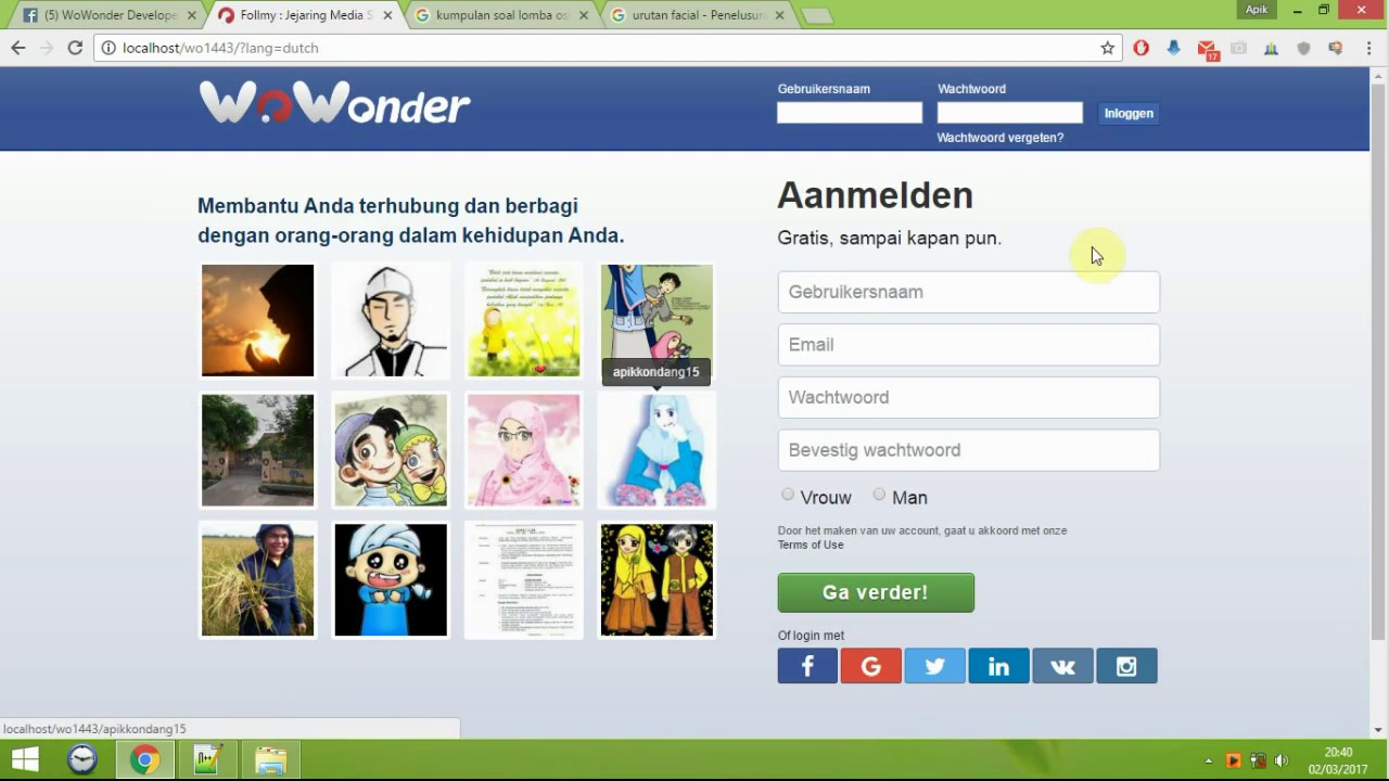 Wowonder Themes Free Download (welcome page)
