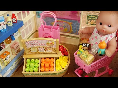 Fruit shop Baby doll and animal toys food...