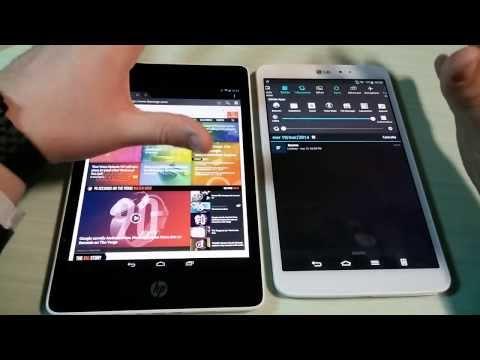 HP Slate 8 Pro vs LG G Pad 8.3 ITA