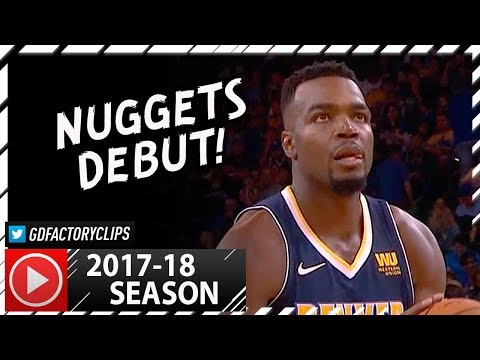 Paul Millsap Full PS Highlights vs Warriors (2017.09.30) - 22 Pts, 11 Reb, Nuggets Debut!