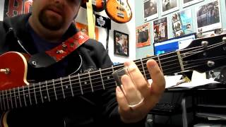 Open G tuning lesson. Led Zeppelin In my time of dying. part 2