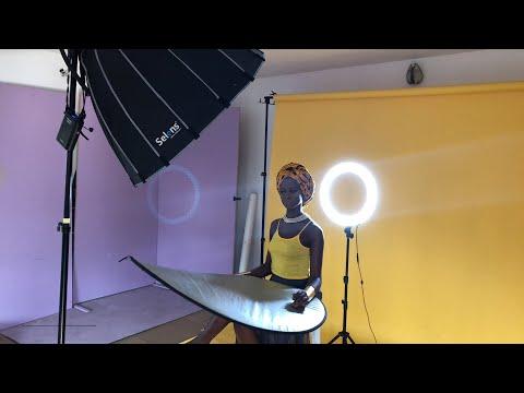 Beauty Photoshoot Lighting Walkthrough & Beauty Photoshoot Lighting Walkthrough - YouTube