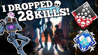 CRAZY 28 SOLO KILLS WITH PATHFINDER! - Apex Legends