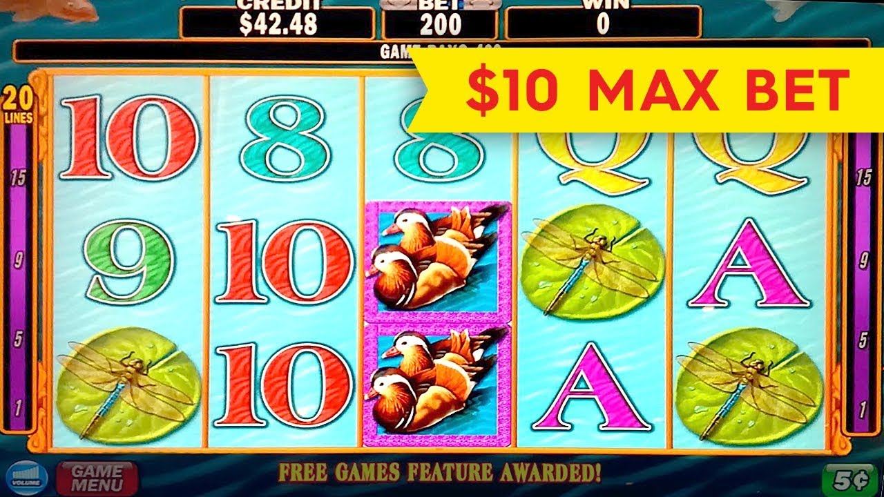Lotus Flower Slot 10 Max Bet Big Win Bonus Youtube