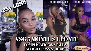 VSG UPDATE: MONTH 1 TO 5 | COMPLICATIONS, MEASUREMENTS, STALLS & MORE!