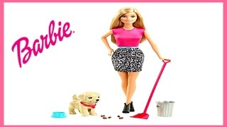 Barbie Potty Training Pup Barbie Feeds And Trains Baby Puppy Puppy Eats and Uses The Restroom
