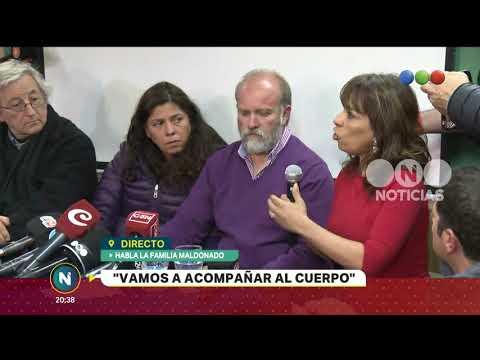 Caso Maldonado: conferencia de prensa de la familia