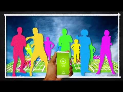 Wireless Fitness app promotional video - outdoor exercise classes with music through your headphones