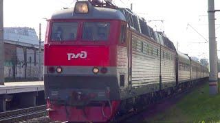 """ЧС7-167 с поездом №66 """"Москва – Тольятти"""":-)"""