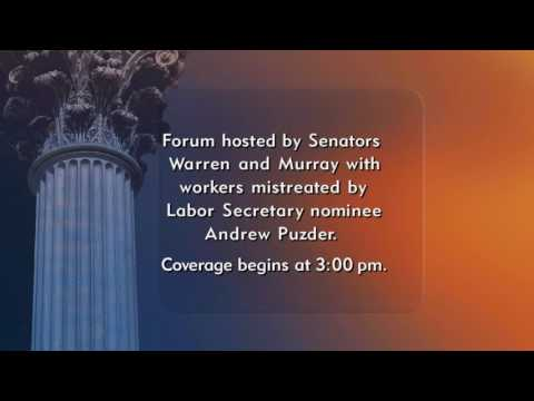 Senate Democrats Forum with Workers Mistreated by Puzder