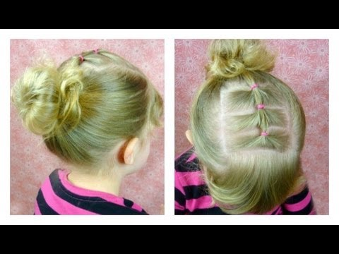 How To Messy Bun And Elastic Braid