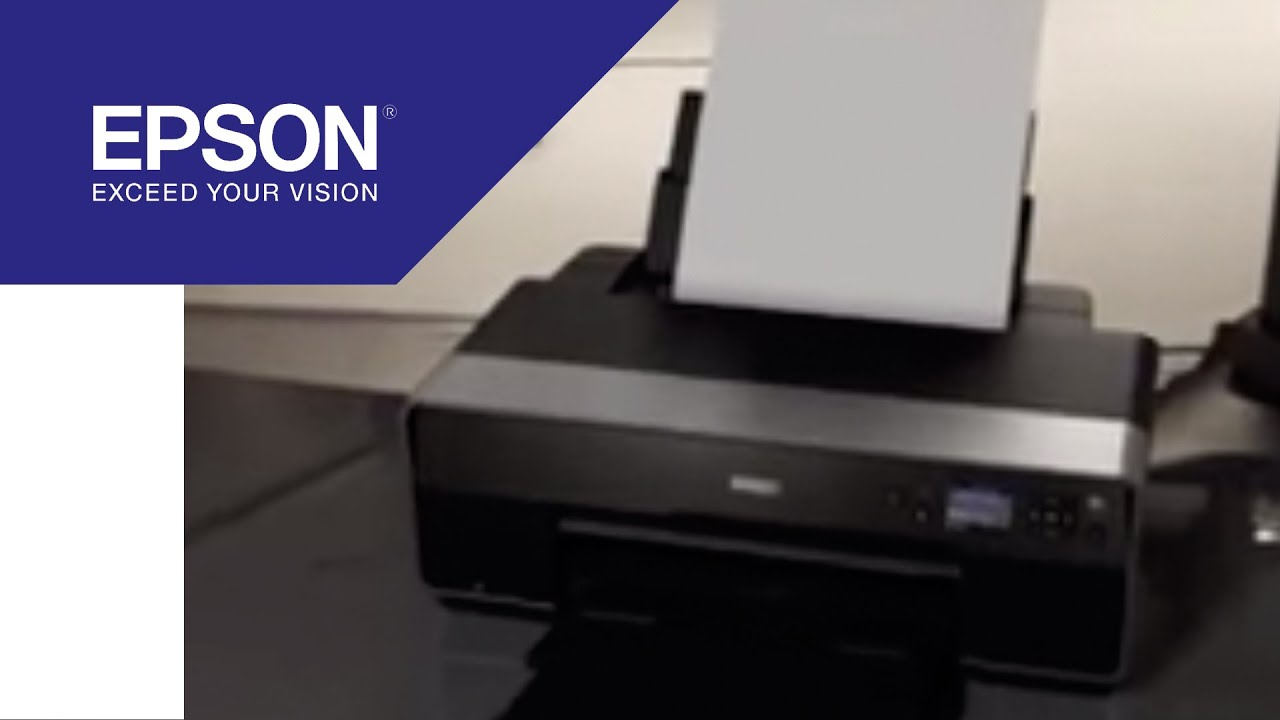 Epson Stylus Pro 3800 Printhead Flushing - YouTube