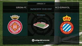 Calentamiento Girona FC vs RCD Espanyol
