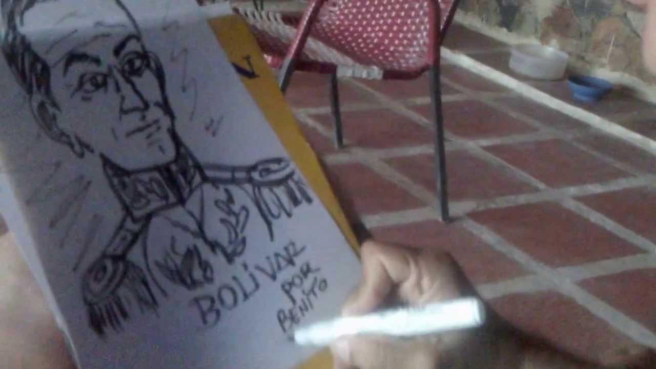 dibujo de simn bolivar obra creativa sin modelo  autor benito