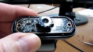 делаю фритрек.  Часть 1. Удаляю ИК фильтр из веб камеры Logitech Webcam 100