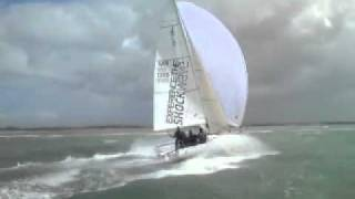 J80 Downwind in 30 - 35 Knots