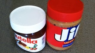 Nutella vs Peanut Butter Taste Test