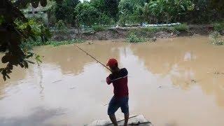 Đi câu cá ở sông tiền gặp cô bán vé số hài vãi. Miền Tây Dân Dã