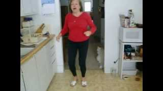 80 year old woman's one minute exercise workout