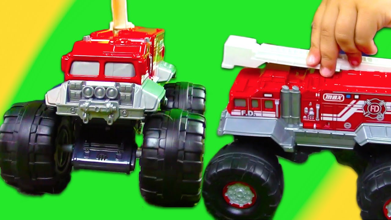 Matchbox MONSTER FIRE TRUCK! Flame Stomper UNBOXING + Play Doh PLAY