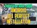 Android head unit stereo for Chrysler 300C 2008 Model -  Audio Setup