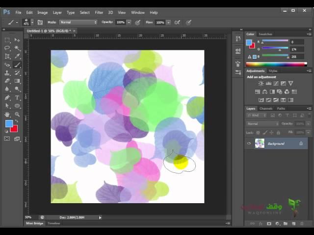 Adobe Photoshop cs6  34 - الفرش وكيفية إضافتها الجزء 4