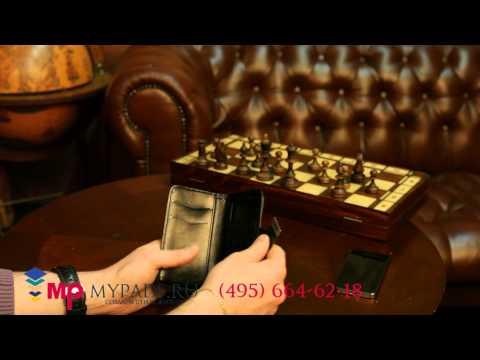 Чехол-книжка для Huawei Ascend G330 черный кожаный