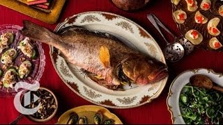Whole Roast Fish With Mushrooms - Melissa Clark
