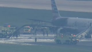 Raw: No Injuries After Plane Fire at O'Hare