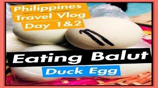 EATING BALUT & DRIVING THROUGH MANILA  ** Day 1 & 2 Philippines Travel Vlog Series**