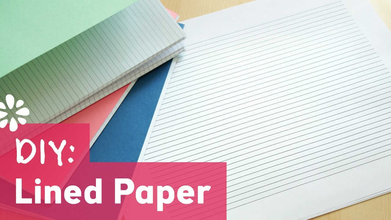 DIY Lined Paper For Bookbinding