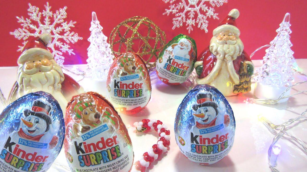 Surprise Christmas Kinder Egg Opening  Kinder Surprise Eggs Christmas  Ornaments Ckc