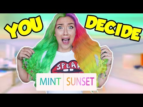 MY SUBSCRIBERS PICK MY NEW HAIR COLOR! ( NOT CLICKBAIT) WHOLE HEAD DYED! OH NO!