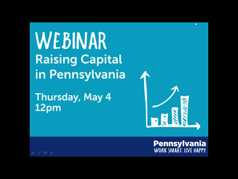 5/4/17 Webinar: Raising Capital in PA