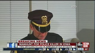 2 Iowa police officers shot, killed in apparent ambush-style attacks