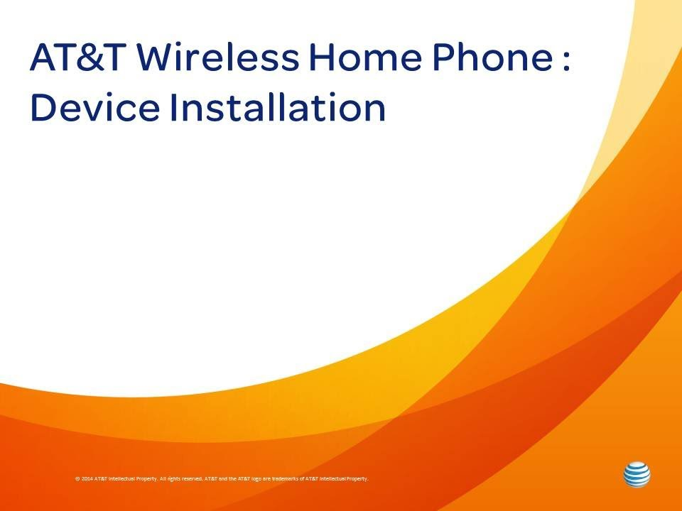 At T Wireless Home Phone Device Installation